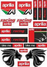 Aprilia Motorcycle Decals Stickers Bike Factory Graphic Set Vinyl Logo 17 Pcs