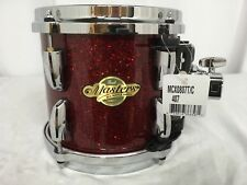 """Pearl Masters MCX 8"""" Mounted Tom/Red Glass/#407/Maple Shell/BRAND NEW"""