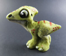 Collectible resinart resin art Green Baby Dragon magnetic #2 hand painted italy