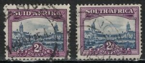 SOUTH AFRICA:1950 SC#56a,b Used Government Buildings, Pretoria  T677