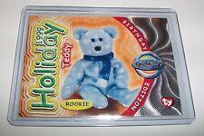 Ty S4 Rare Silver *1999 Holiday Teddy Bear * Beanie Birthday Card Insert #282