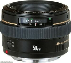 THE BEST Canon EF 50mm f/1.4 Lens. Made in Japan - great condition