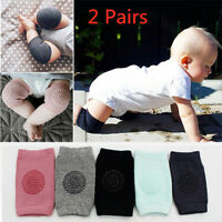 2 Pairs Baby Soft Anti-slip Elbow Protector Crawling Knee Pad Infant Kids Safety