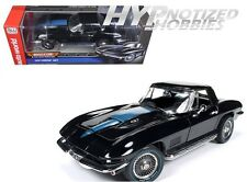 AUTOWORLD 1:18 1967 CHEVROLET CORVETTE 427 STINGRAY DIE-CAST BLACK AMM1099