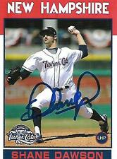 Shane Dawson 2016 New Hampshire Fisher Cats Signed Card