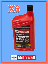 6 Quarts OEM FORD Premium Synthetic Blend Motor Oil Motorcraft SAE 5W20