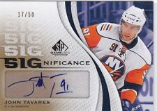 JOHN TAVARES 2010-11 UPPER DECK SP GAME USED SIGNIFICANCE AUTO #17/50 ISLANDERS