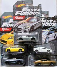Fast & Furious Set  5 pcs (MB, Ford, Nissan, Lamborghini u.a) / Hot Wheels 1:64