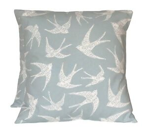 2 x Studio G Fly Away Duck Egg Blue Cushion Covers