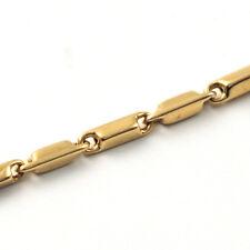 """HESHE bracelet ITALIAN Solid Yellow Gold 18K men's 8"""" - 20,5 cm MADE IN ITALY"""