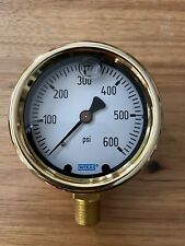 "Wika 2-1/2"" Dial, 1/4 Thread, 0-600 Scale Range, Pressure Gauge brass"