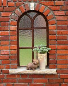 Gotik, Fenster, Gussfenster, Spiegel, Halbkreis, Eisenfenster, Stallfenster Groß