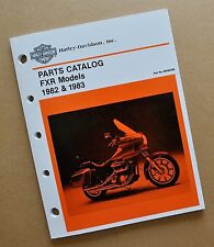 FXR FXRT FXRP FXLR  Harley FXR FXRS FXRT  Parts Catalog Manual Book
