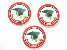 12 PRE CUT EDIBLE RICE WAFER PAPER CARD CONGRATULATIONS GRADUATION CAKE TOPPERS