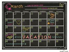 Dry Erase Calendar Flexible Magnetic Chalkboard for Refrigerator & Fridge –MONTH