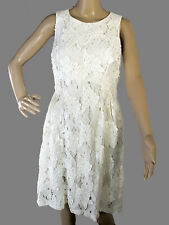 TAHARI ASL Levine Dress Size 6 White Lace Cocktail