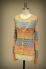 MISSONI M Size M Zigzag Twinset Cardigan and Tank Sweaters