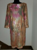 ROBERTO CAVALLI COCKTAIL EVENING WEDDING RUNWAY COUTURE SEQUINS GOLD GOWN DRESS