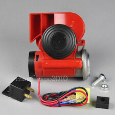 Car Auto Truck 12V Dual Tone Snail Electronic Pump Ultra Compact Air Horn Loud
