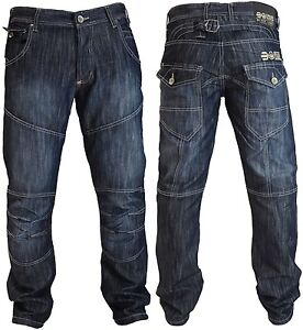 Mens Crosshatch Jeans Denim Trousers Regular Fit Straight Leg Newport or Farrow