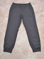 Gap -  BNWOT - Unisex Black Cotton Cuffed Pull On Trousers - size Med Short