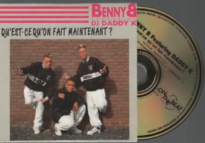 Benny B Feat. Daddy K. Qu'est Ce Qu'on Fait Maintenant ? Cd Maxi  Card Sleeve