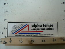 STICKER,DECAL LARGE ALPHA TEMSE MOTORHOMES CAMPERACCESSOIRES 30 CM