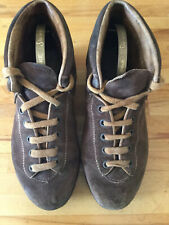 Vintage Suede Leather Hiking Boots Italian Made Size 38