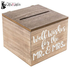Rustic Country Wood Wedding Well WIshes Advice Box Vintage Style NEW