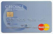 BELIZE CHOICE BANK MASTERCARD - CHIP CARD