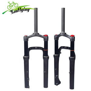 """20*4.0"""" Fat Bike Air Suspension Fork 130mm Snow Beach MTB Bicycle Forks 135*9mm"""