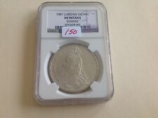 1887 Great Britain Crown NGC AU Details Stained
