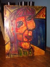"TABLEAU ""DAM 1"" D APRES PICASSO CREATION ORIGINALE ERMO ART CONTEMPORAIN"