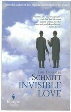 """VERY GOOD"" Eric-Emmanuel Schmitt, Invisible Love, Book"