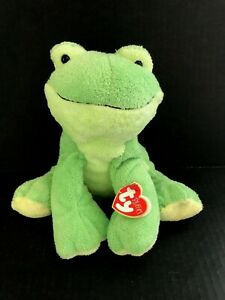 TY PLUFFIES 2006 LEAPERS THE FROG WITH TAGS