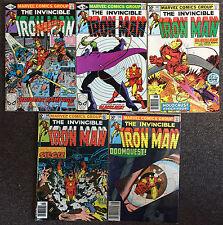 Invincible Iron Man 1st Series # 145,146,147,148,149 Marvel Comics Lot