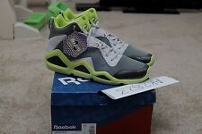 BRAND NEW REEBOX KAMIKAZE III GREY/GREEN SZ 13 KEMP SWIZZ BEATS