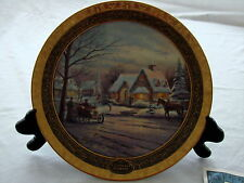 Thomas Kinkade 2002 Memories Of Christmas Plate Bradford Exchange COA Box