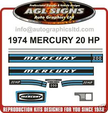 1974 MERCURY KIEKHAEFER 20 hp DECALS  reproductions stickers