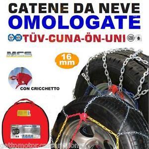 CATENE NEVE 30/9 50-15 MELCHIONI 16MM FURGONI COMMERCIALI CAMPER SUV CF1641