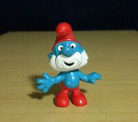 Smurfs 20001 Papa Smurf Grandpa Vintage Figure Rare PVC Toy Figurine Peyo Lot