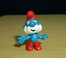 Papa Smurf Original Figure Smurfs Vintage Classic Toy Collectible Figurine 20001