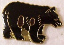 Hat Lapel Pin Scarf Clasp Animal Black Bear NEW