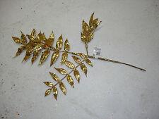 Christmas Picks Floral 11 pc Gold Wholesale Bulk Crafts Decorations Flowers #7