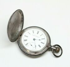 American WALTHAM Pocket Watch - BIG Size 18 - HEAVY Coin Silver Case
