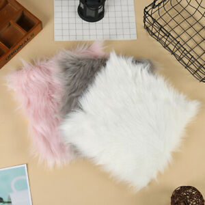 Fluffy Rugs Shaggy Area Carpet Floor Mat Faux Seat Pad Sofa Home Bedroom IT
