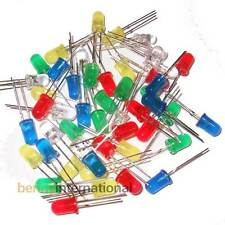 50x 5mm DIFFUSED LEDS RED GREEN YELLOW BLUE WHITE Arduino Project