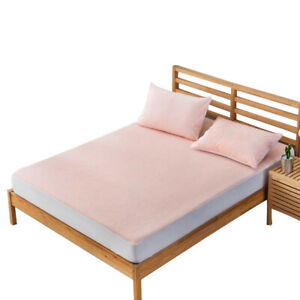 Warm Waterproof Fitted Sheet Bed Cover Home Textile Accessories Solid Color
