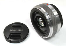 Panasonic Lumix G 20 mm f/1.7 II Aspherical Lens (Silver) **EXCELLENT**