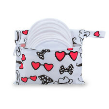 8pcs Alva Nursing Pads Reusable Breast Feeding Pads + One Mini Bag